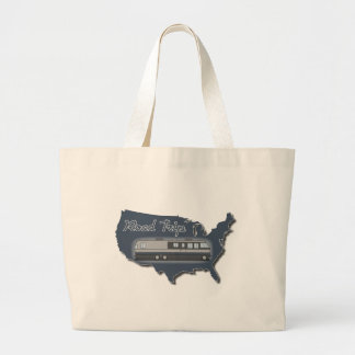 Classic Motor Home USA Road Trip Canvas Bags