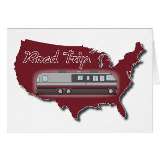 Classic Motor Home USA Road Trip Greeting Card