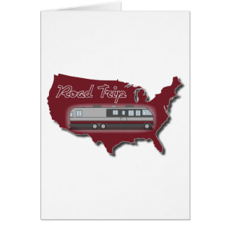 Classic Motor Home USA Road Trip Greeting Cards