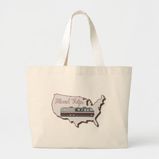Classic Motor Home USA Road Trip Large Tote Bag