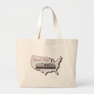 Classic Motor Home USA Road Trip Large Tote Bag