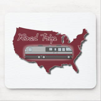 Classic Motor Home USA Road Trip Mouse Pad