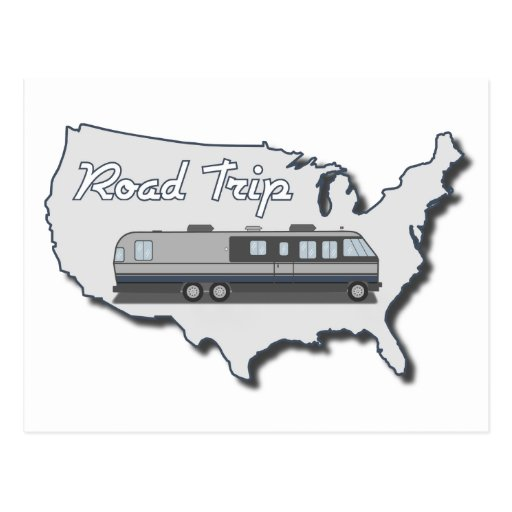 Classic Motor Home Usa Road Trip Postcard Zazzle