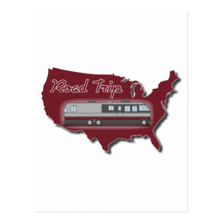 Classic Motor Home USA Road Trip Postcard