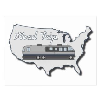 Classic Motor Home USA Road Trip Postcards