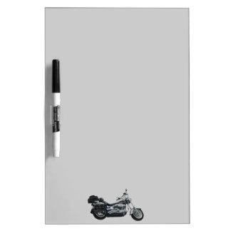 Classic Motorbike Power Machine Rider Gear Dry-Erase Board
