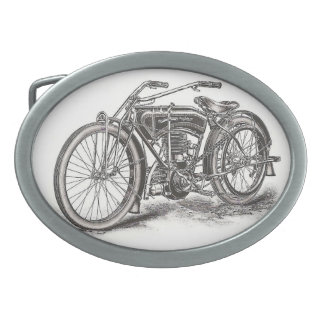 Classic Motorcycle Buckle Oval Belt Buckles