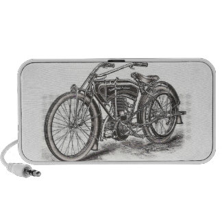 Classic Motorcycle Doodle Speaker