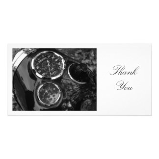 Classic Motorcycle Gauges - Thank You Photo Card Template