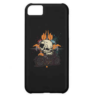 Classic Motorcycle Skull With Paint Splashes iPhone 5C Cover