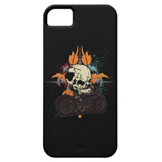 Classic Motorcycle Skull With Paint Splashes iPhone 5 Covers