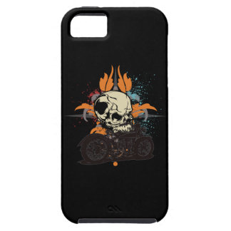 Classic Motorcycle Skull With Paint Splashes iPhone 5 Cover