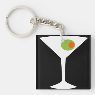 Classic Movie Martini Key Chain (black)
