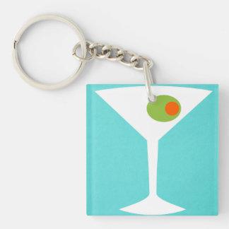Classic Movie Martini Key Chain (turquoise)