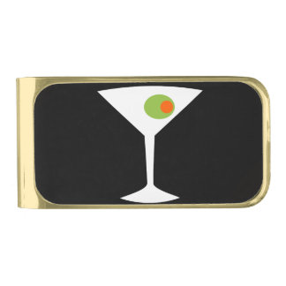 Classic Movie Martini Money Clip (black)