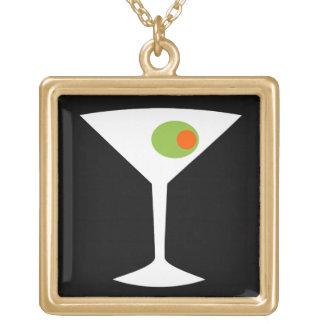 Classic Movie Martini Necklace (black)