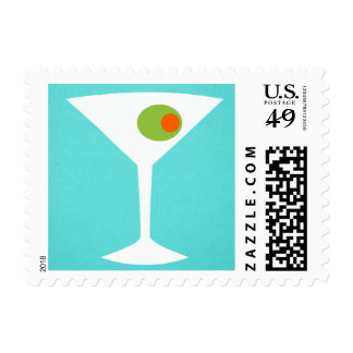 Classic Movie Martini Postage Stamps