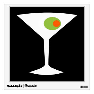 Classic Movie Martini Wall Decal