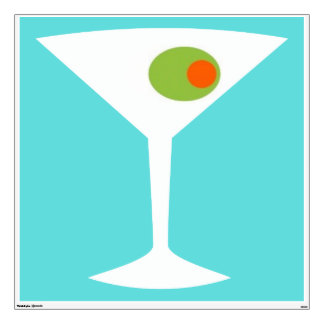 Classic Movie Martini Wall Decal (turquoise)