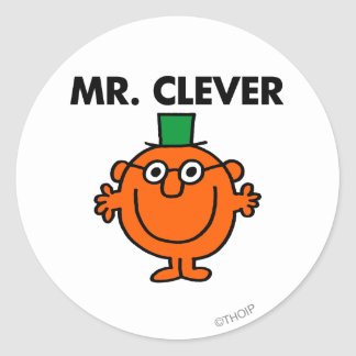Classic Mr. Clever Logo Classic Round Sticker
