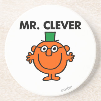 Classic Mr. Clever Logo Drink Coaster