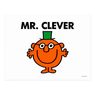Classic Mr. Clever Logo Postcard