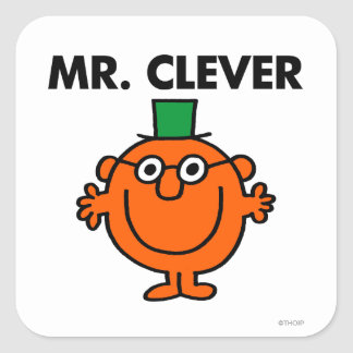 Classic Mr. Clever Logo Square Sticker