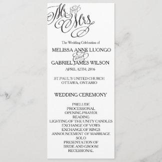 Classic Mr. & Mrs. Wedding Program