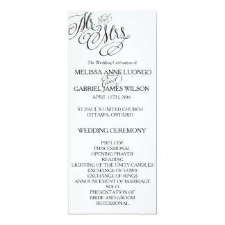 Classic Mr. & Mrs. Wedding Program