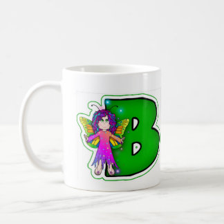 Classic Mug Cute Fairy Initial Green B