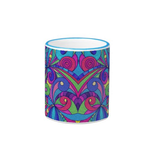 Classic Mug Floral abstract background