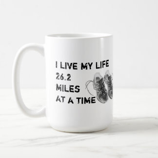 Classic Mug - I live my life 26.2 miles at a time