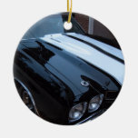 Classic Muscle Car Double-Sided Ceramic Round Christmas Ornament