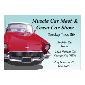 Classic Muscle Car Party Card