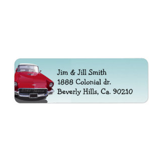 Classic Muscle Car Party Label