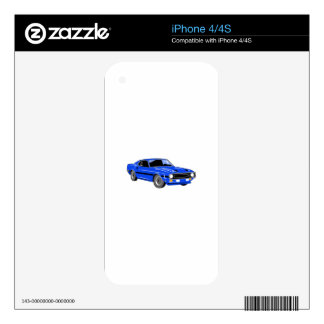 Classic Muscle Car Skin For The iPhone 4
