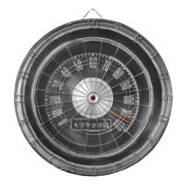 Classic Muscle Car Speedometer Dartboard