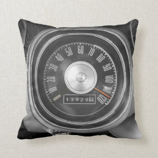 Classic Muscle Car Speedometer Throw Pillow