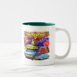 Classic Muscle Cars T-shirts and Gifts Two-Tone Coffee Mug