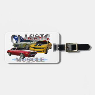 Classic muscle tags for bags