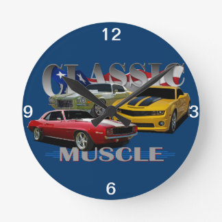 Classic Muscle Round Clock