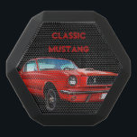 """Classic Mustang Portable Boombot REX Black Bluetooth Speaker<br><div class=""""desc"""">Digital painting of a classic red Mustang with a customizable text area. Click on the &quot;Customize it!&quot; button for more design options.     Artwork and design by Karlajkitty</div>"""