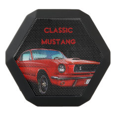 Classic Mustang Portable Boombot Rex Black Bluetooth Speaker at Zazzle