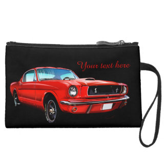Classic Mustange Sueded Mini Clutch Cosmetic Bag