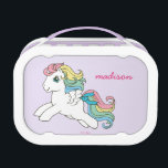 """Classic My Little Pony   I Want a Pony Script Lunch Box<br><div class=""""desc"""">Starshine in a cute,  pastel text design.</div>"""