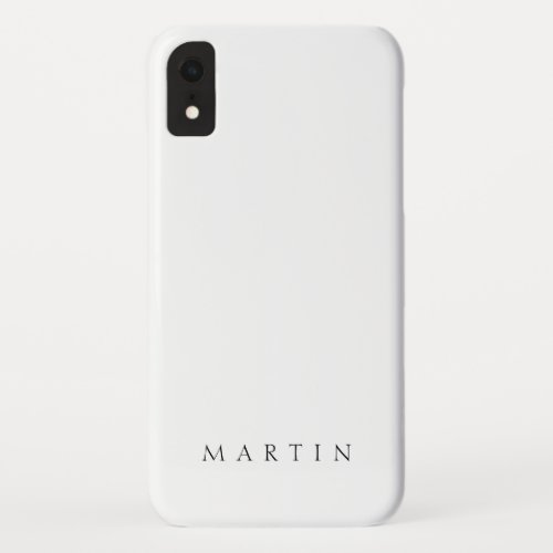 Classic Name or word iPhone XR Case