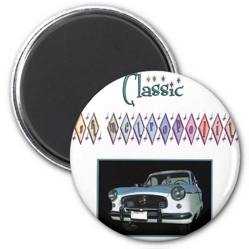 Classic Nash Metropolitan 2 Inch Round Magnet