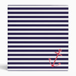 Classic Nautical Anchor 3 Ring Binders
