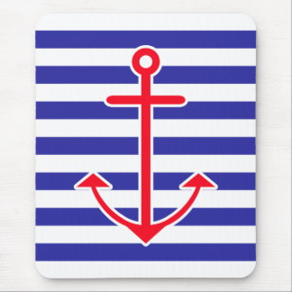 Classic Nautical Anchor Mouse Pad
