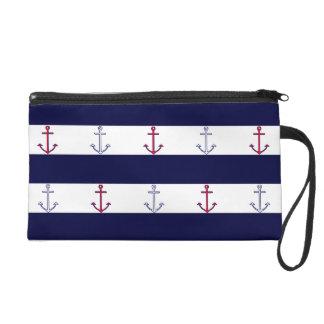 Classic Nautical Pattern Wristlet Clutch